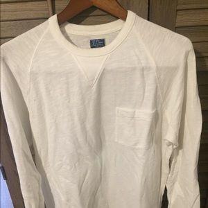 White crew neck J.Crew sweater