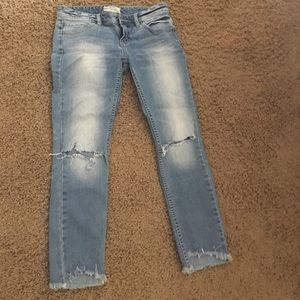 Free people ripped skinny jeans