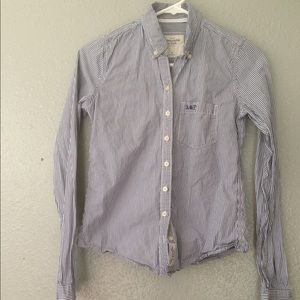 Abercrombie & Fitch Blue Stripe Button-down