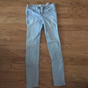 size 0 light wash abercrombie jeans