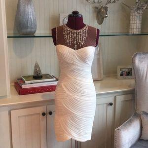 Beautiful White Holiday Cache Dress