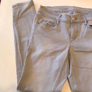 Loft super skinny grey jeans