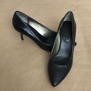 Banana Republic Black Leather Lyndsey Heel