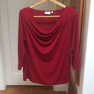 Red Anthropologie Top (Deletta)