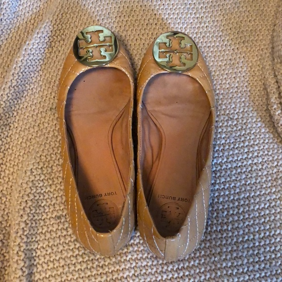 3696d1a84afb68 ... Tory Burch Quinn Quilted Leather Ballet Flat arrives 45034 bf12b  NEW  Tory Burch Black ...
