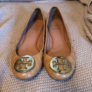 a03f928ef55dd8 ... NEW fashion  Tory Burch Shoes - Tory Burch Quinn Quilted Leather Ballet  Flat factory outlets 6c429 7f337  womens patent flats black ...