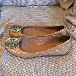 9c5b0beaee8062 ... Tory Burch Shoes - Tory Burch Quinn Quilted Leather Ballet Flat factory  outlets 6c429 7f337 ... NEW Tory Burch York Brown Snake Print Cap Toe Logo  ...