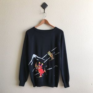 '70s / Ski Bears Sweater
