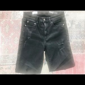 Gap Black Destroyed Skinny Jeans
