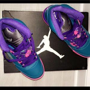 "7c3add4f0a76de Air Jordan Shoes - NIKE GIRLS AIR JORDAN 5 RETRO (GS) ""TROPICAL TEAL"