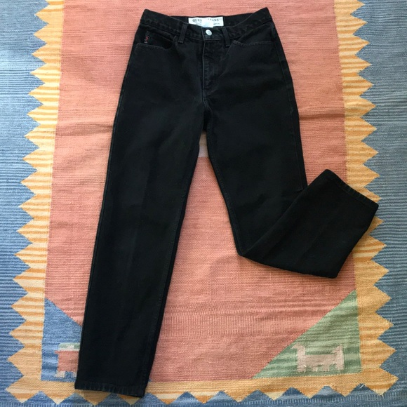 Anthropologie Denim - Vintage high waisted GUESS black slim cut jeans 👖