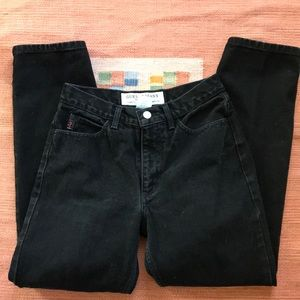 Anthropologie Jeans - Vintage high waisted GUESS black slim cut jeans 👖