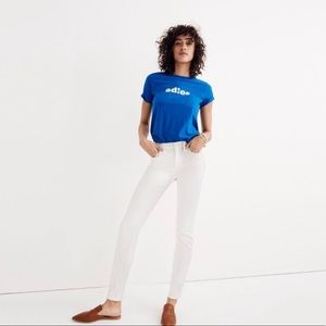 Madewell High Rise Skinny Jeans in Pure White