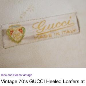 349c8a729a0 Gucci Shoes - Vintage white Gucci Loafers