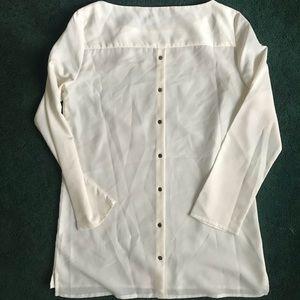 Zara button back blouse