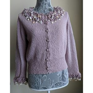 Anthropologie (Moth) Shell Cardigan - Size L - GUC