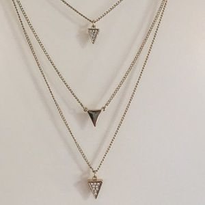 NWOT LOFT Triangle Trio Necklace