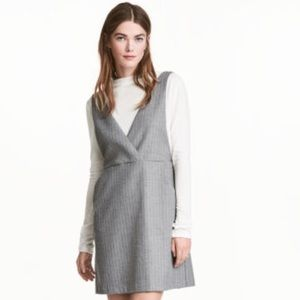 H&M Pinstripe Pinafore Dress
