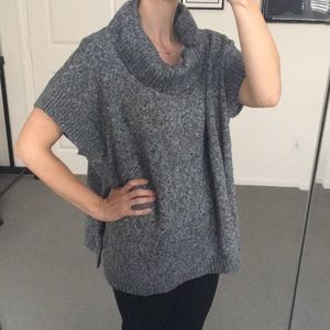 Gray Old Navy Sweater Poncho