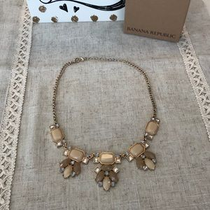 Banana republic nude and gold statement necklace