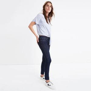 """NWOT Madewell 8"""" Skinny Jeans in Quincy Wash sz 28"""