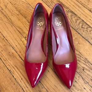 Vince Camino Red Patent Leather Pumps, sz 8