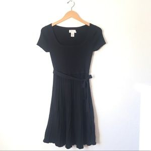Max Studio Cable Knit Black Dress