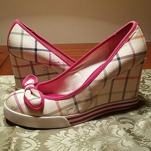 NWT, COACH Sweetie Wedge
