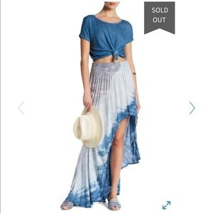 Young Fabulous& Broke High Low Kylie Tie Dye Skirt