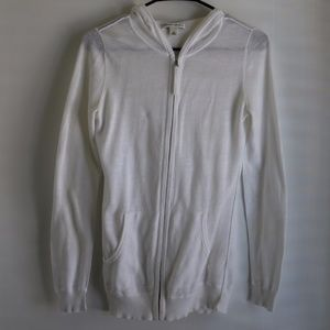 Banana Republic white zipper hoodie