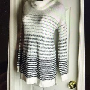 WORN ONCE-Old Navy Mock Striped Sweater - Large