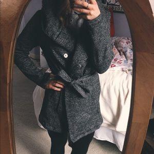 Merona Marled Gray Tie Waist Jacket