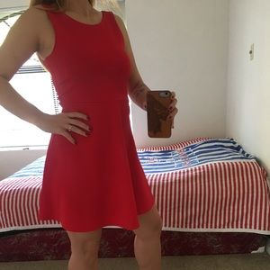 H&M divided red dress