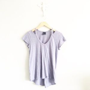 Anthropologie Left of Center Periwinkle T-Shirt