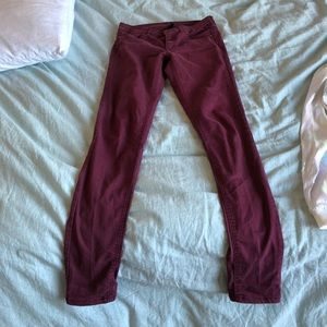 H&M maroon skinny pants