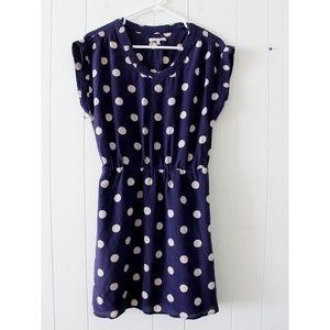 Madewell Broadway & Broome Purple Polka Dot Dress