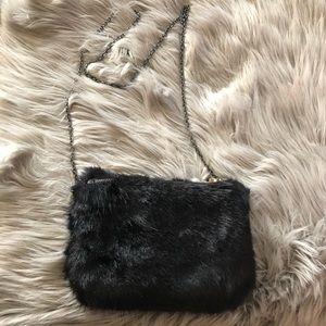 No Brand Needed faux fur purse