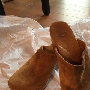 Ugg suede clogs size 5.