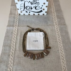 J. Crew dark tan and gold statement Necklace