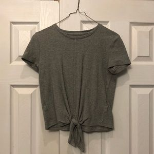 Madewell tie front cotton tee shirt