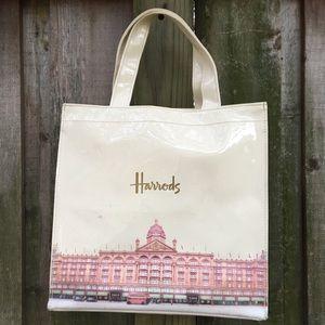 Harrods cream bag