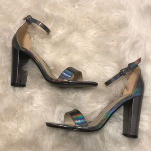 NEW Iridescent/Silver Nasty Gal-Glamorous Heels