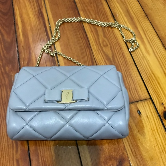 920a69649d Salvatore Ferragamo quilted miss vara bag gray. M 5a3047f82de51257070485de