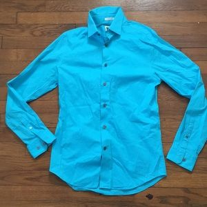 Express extra slim fit size small blue