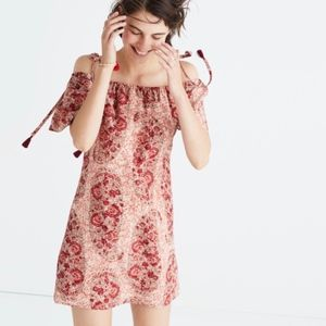 Madewell Silk Cold Shoulder Watercolor Paisley S