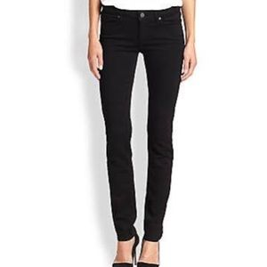 PAIGE Skyline Transcend Black Skinny Jeans