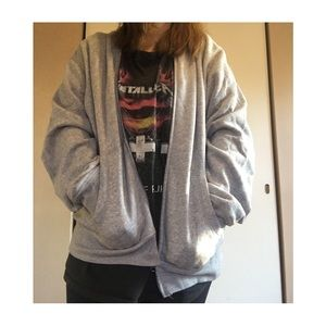 Cozy Grunge Oversized Soft Gray Hoodie