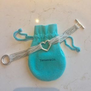 💯Authetic Tiffany & Co. Open Heart Mesh bracelet