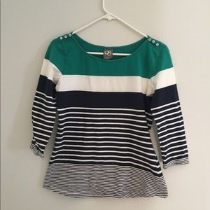 Anthro Striped long sleeve t