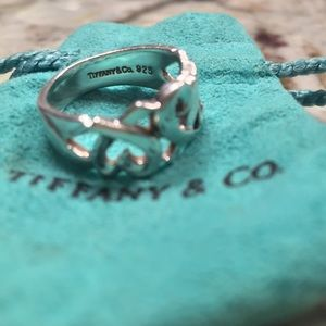 Tiffany & Co sterling silver Loving Hearts ring